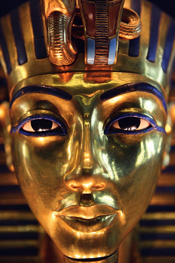 Egypte, le Caire, le musee Egyptien, le masque de Toutankhamon