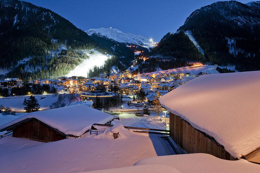 Ischgl, panorama de nuit
