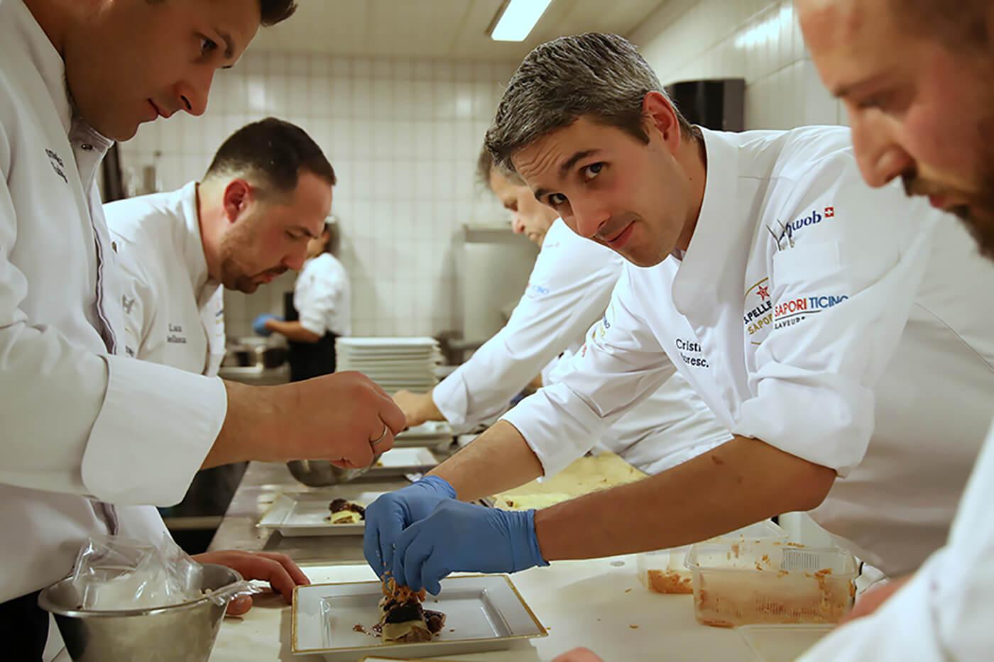 Le Chef Cristian Moreschi diner de lancement du 13e S. Pellegrino Sapori Ticino