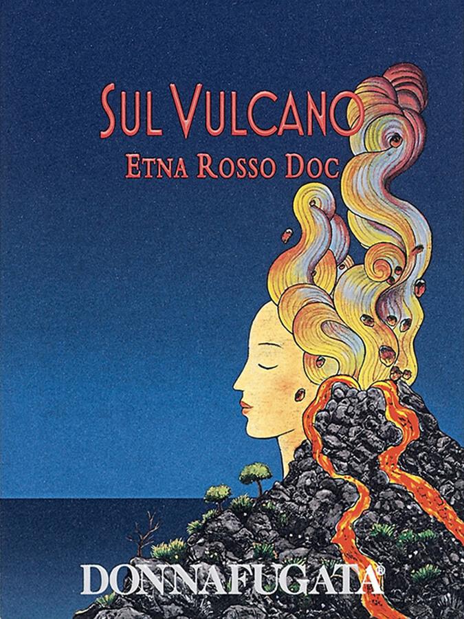 Etiquette de la cuvée SulVulcanoRosso