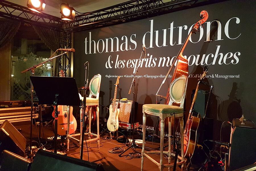 Cocktail Wine & Music la scène prête à accueillir Thomas Dutronc (c) GAD