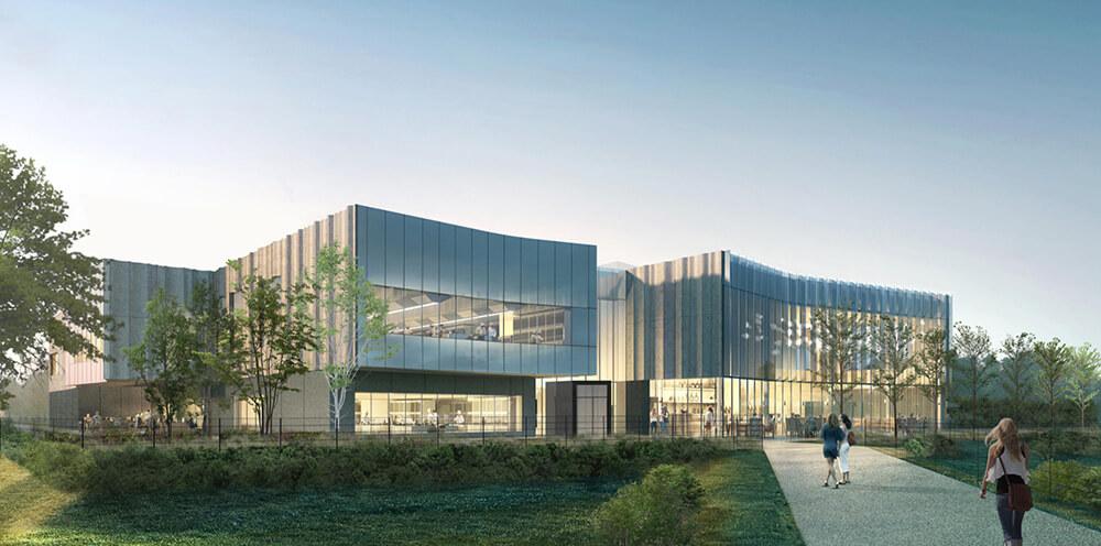 Le nouveau Paris Campus à Meudon vue sur le site