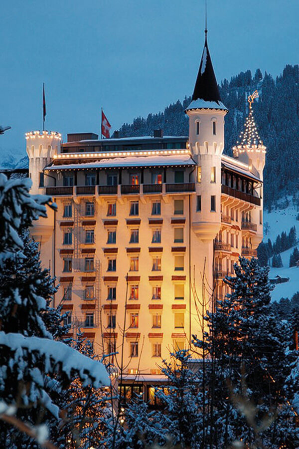 Gstaad Palace en hiver
