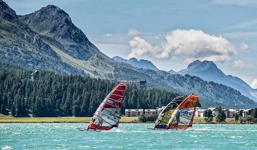 Magnifique course au vent sur la Lac de Sylvaplana (c) Marc van Swol