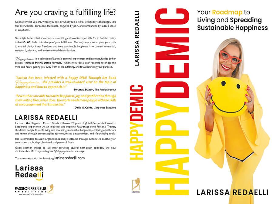 Edité par Passionpreneur Publishing - la couverture de Happydemic et son auteure