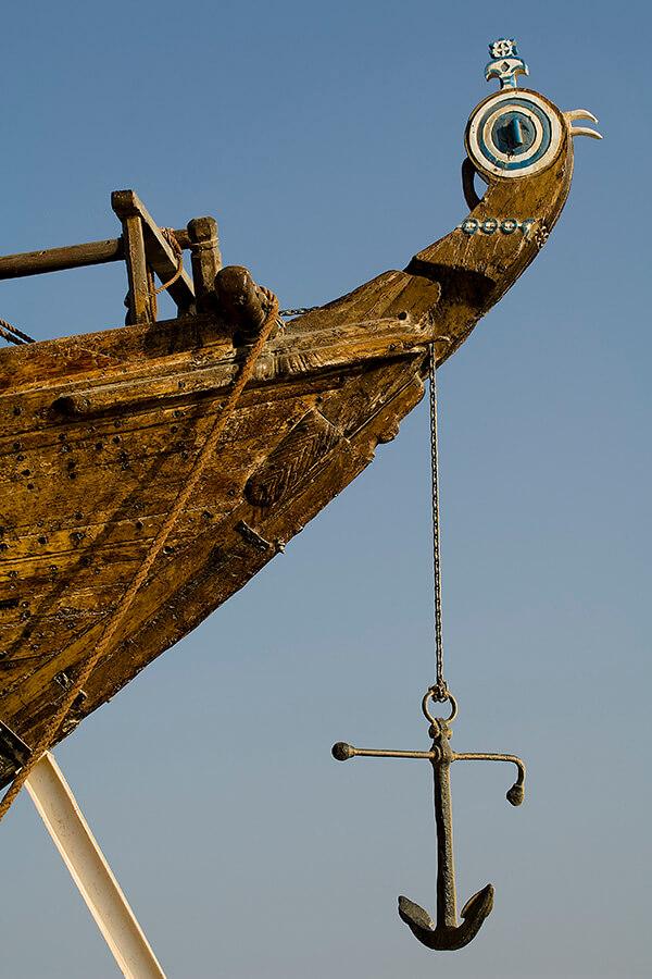 Les bateaux Omanais ont transporté l'encens à travers les mers Fateh Ankhayr à Sur© OT Oman