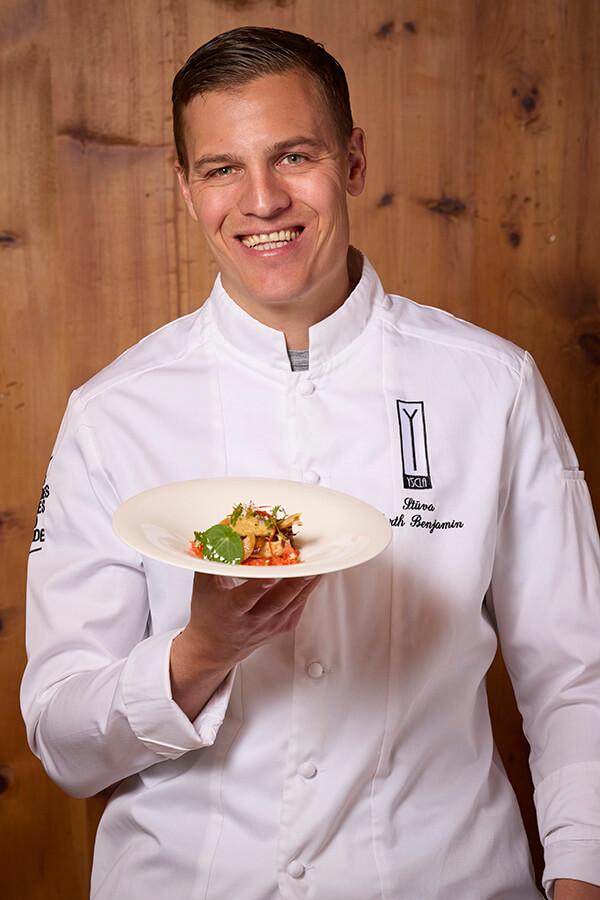 Le Chef de l'Année 2019 Benjamin Parth est le Chef du Restaurant Stüva de l'Hôtel Yscla à Ischgl (c)TVB Paznaun
