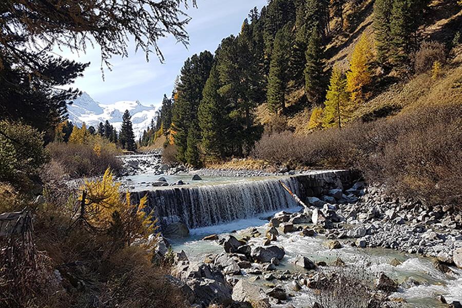 Paysage de cascades vers le Parc National Suisse (c) GAD