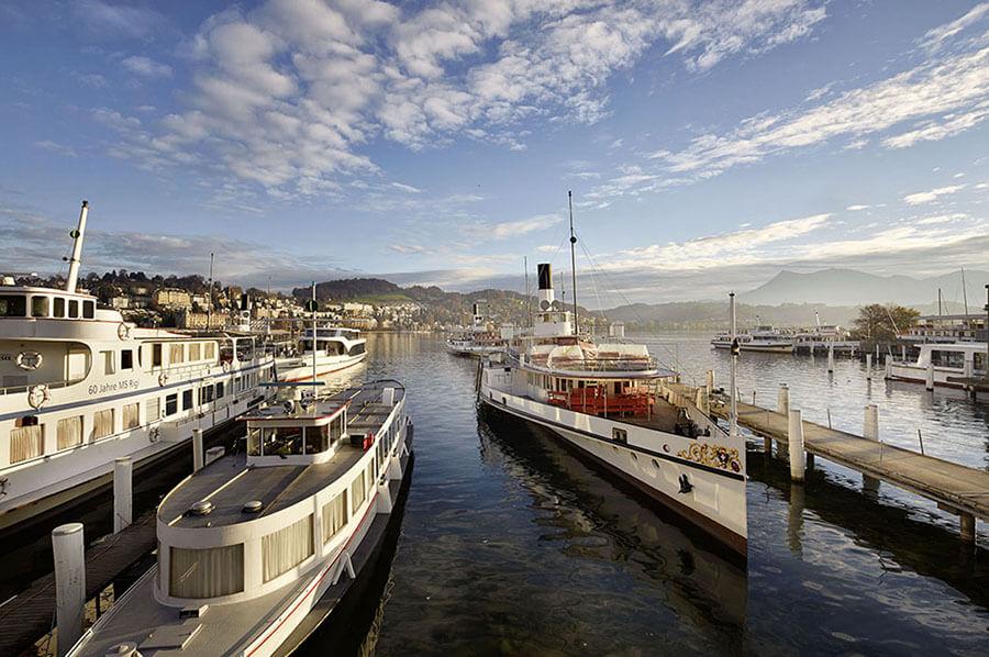 Lucerne est le point de départ de nombreuses croisières (c) Office de Tourisme Lucerne