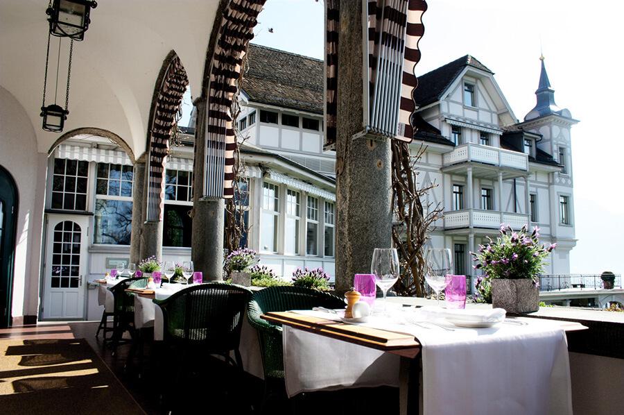 La Brasserie Park Hotel Weggis en véranda