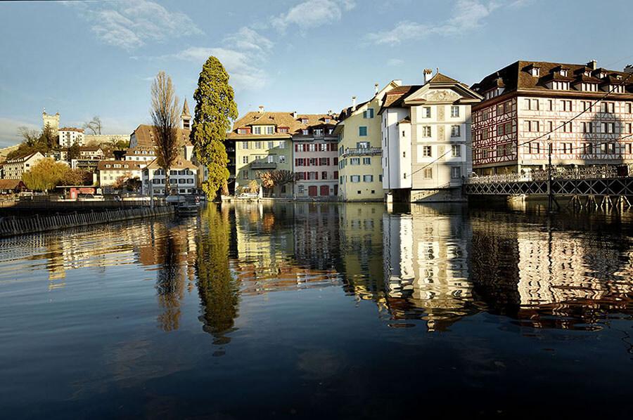 Perspective sur la ville de Lucerne (c) Office de Tourisme Lucerne