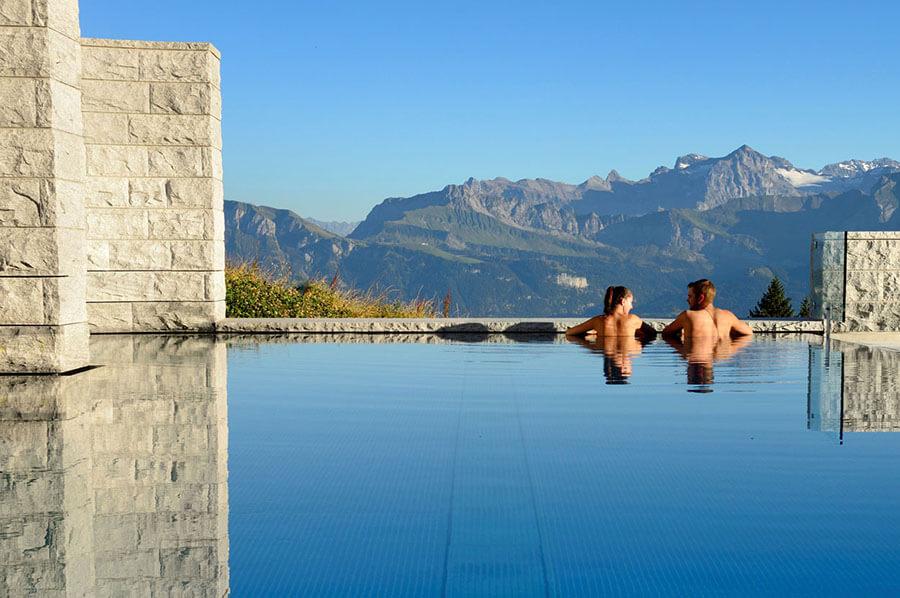 Mont Rigi piscine thermale en plein air (c)Wellness Rigi Mineralbad