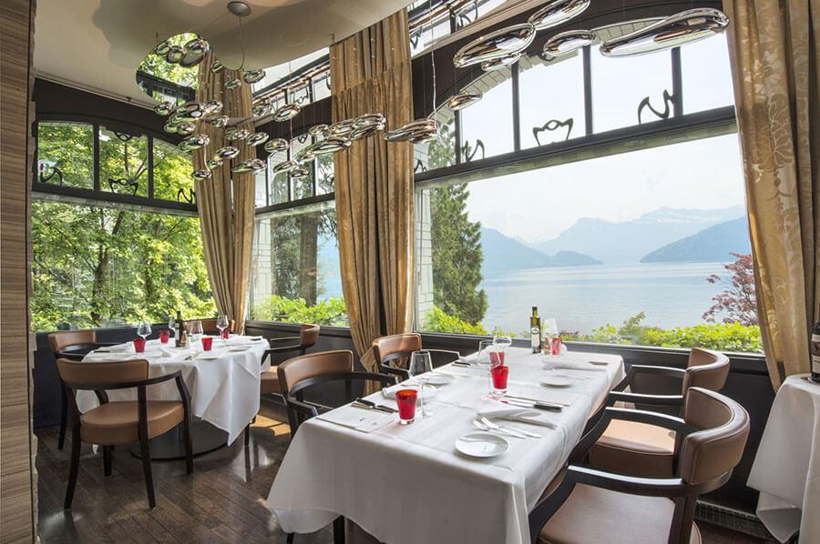 Restaurant Park Grill vue sur le lac Park Hotel Weggis