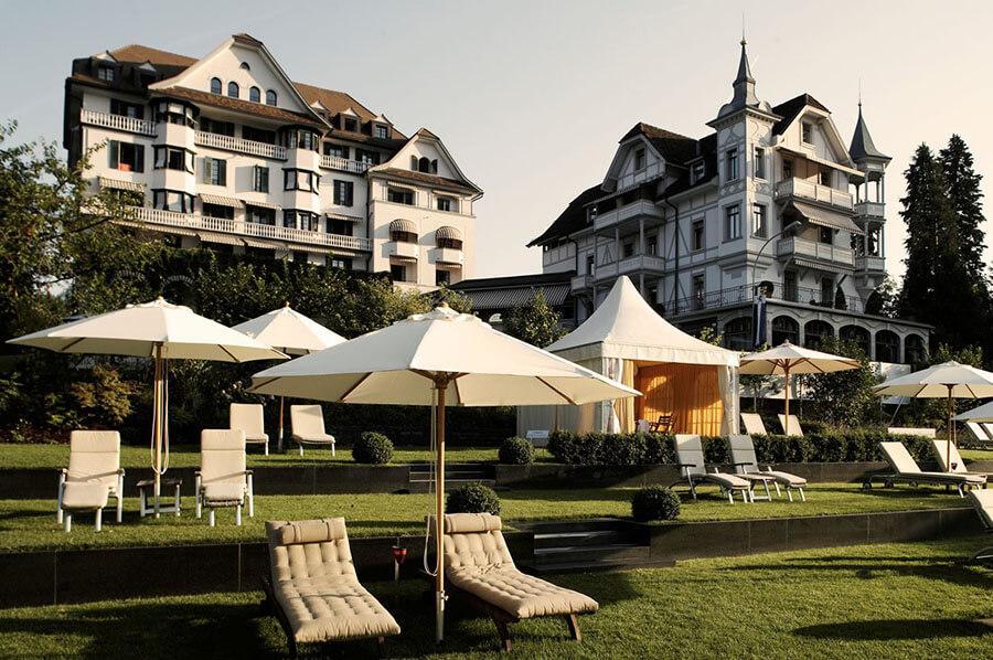 Park Hotel Weggis la plage privée