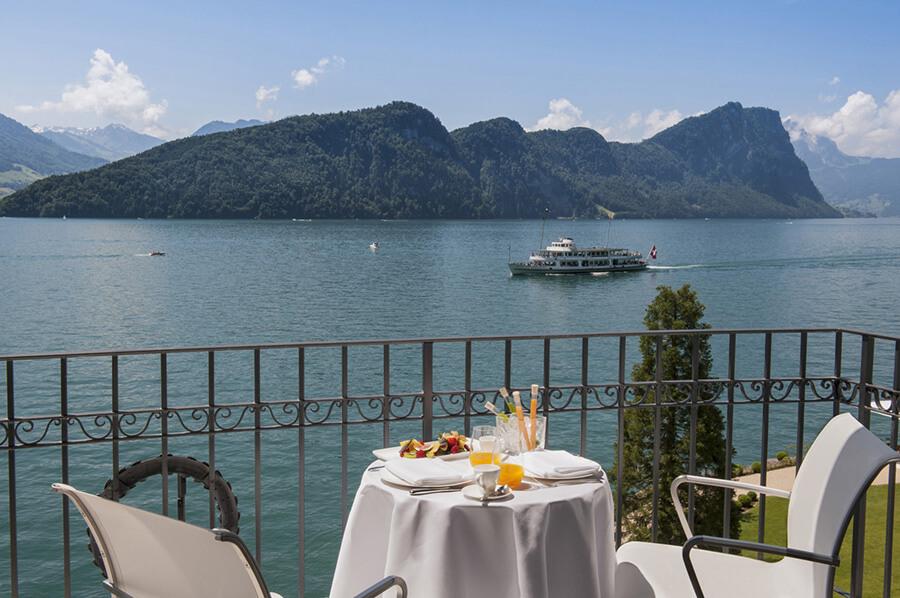Park Hotel Vitznau vue sur le lac