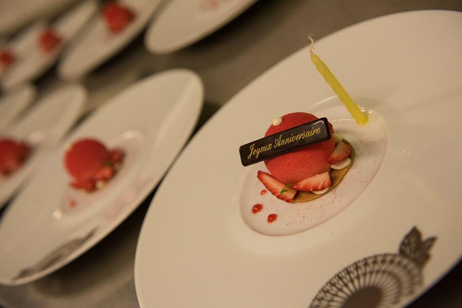 Au dessert des plats délicats imaginés par les Grands Chefs