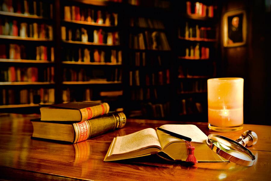 La somptueuse bibliothèque du Paradies