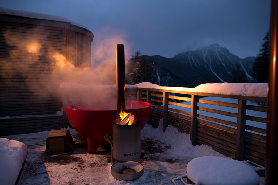 Dutch Tub bain de vapeur en plein air chauffé au bois