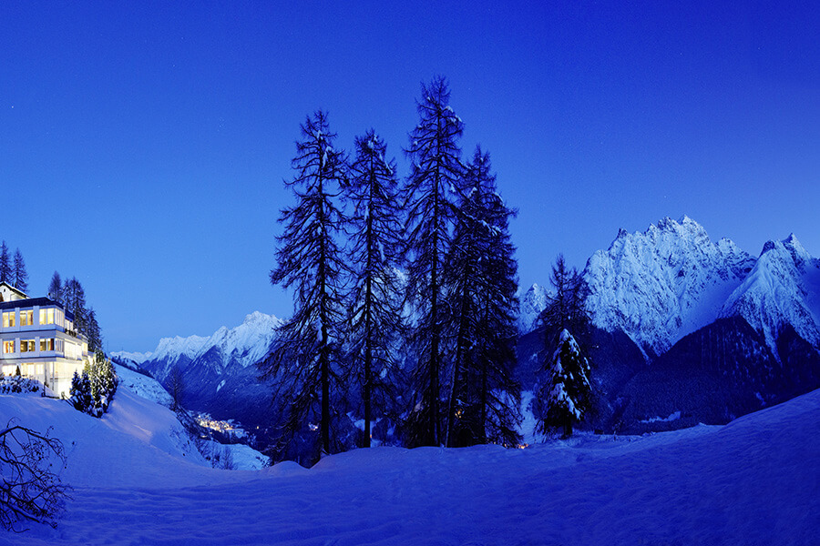 Féérie du panorama en hiver