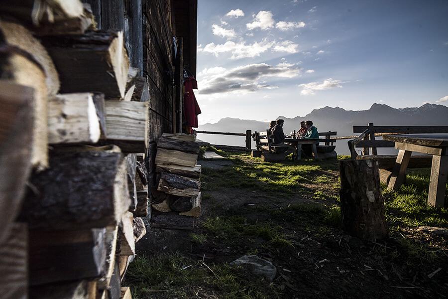 Picnic à la cabane du Paradies Chasa da Fö