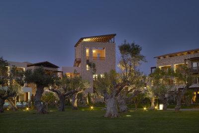 L'hôtel Westin entouré d'arbres séculaires