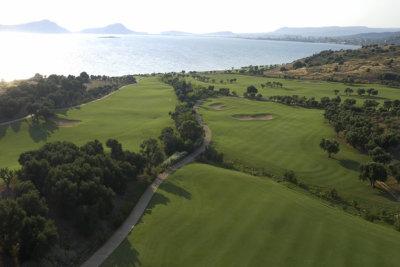 AThe Bay course, aerial photo by Orfeas Kalafatis