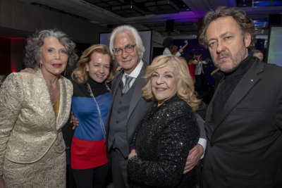 Catherine Donin de Rosière avec Caroline Scheufele, Vice-Présidente de Chopard, Marc Bonnant, Nicoletta et J.C. Molinier