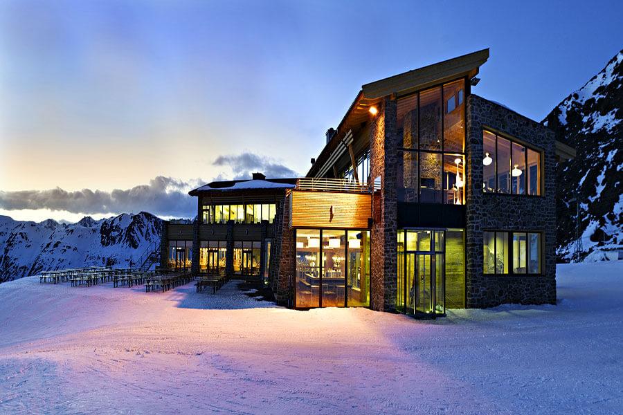 Ischgl Alpenhaus fameux restaurant à 2300m d'altitude