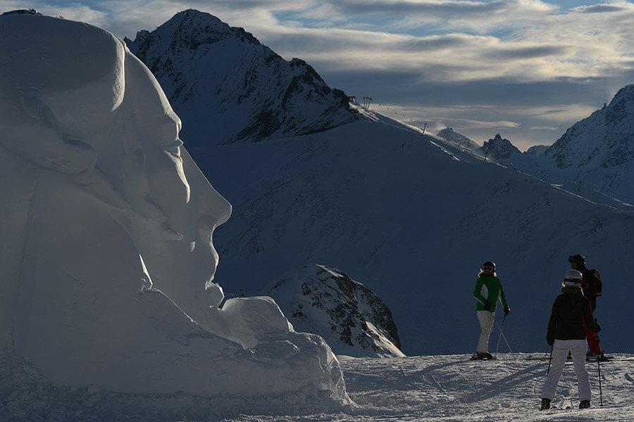 Ischgl concours de sculpture sur glace