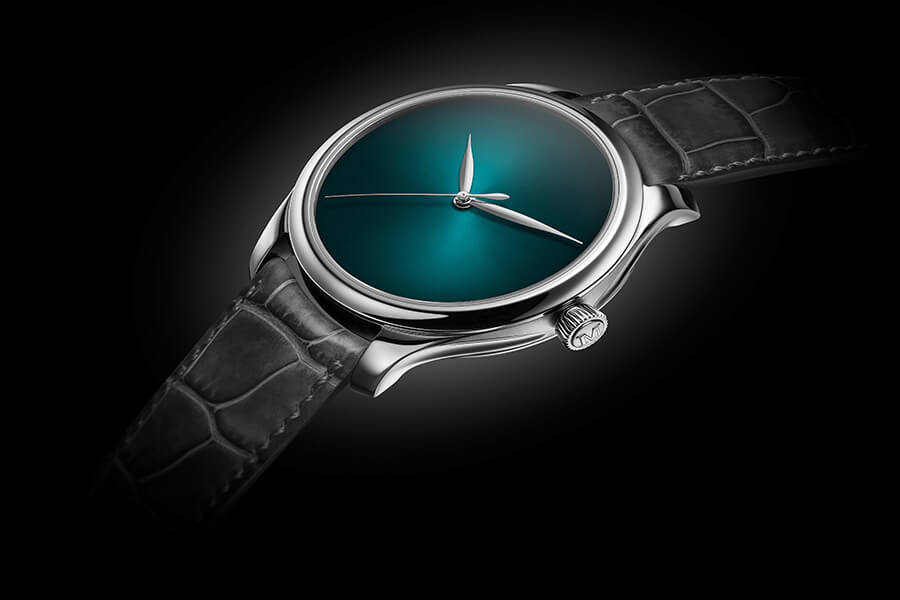Moser et Cie Endeavour Centre Seconds Concept Blue Lagoo sans logo ni index référence d'élégance limitée à 50 pcs-