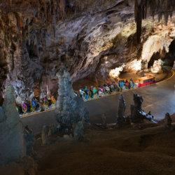 Postojna Cave Le train parcourant les galeries
