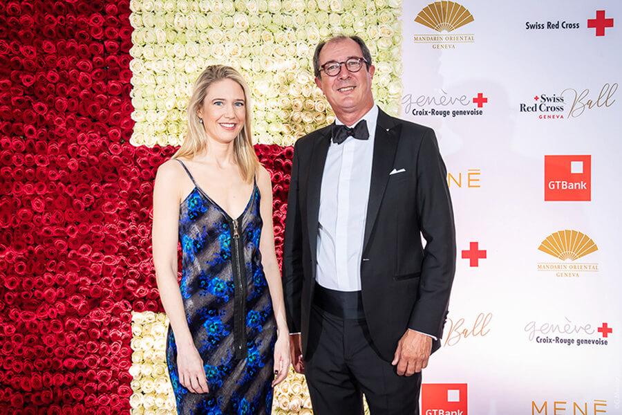 Stéphanie Lambert Directrice de la Croix-Rouge genevoise, Matteo Pedrazzini Président de la Croix-Rouge genevoise