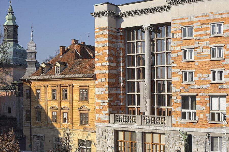 Ljubljana l'Université et sa bibliothèque