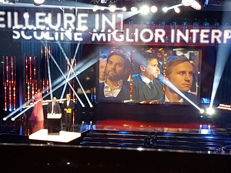 Les acteurs en lice pour le Prix d'interprétation masculine, au centre Joël Bassmann