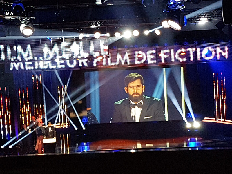 Antoine Russbach l'heureux gagnant de 3 Quartz Grand Prix du Cinéma Suisse