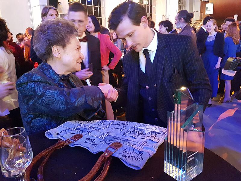 Erika Wanner et le lauréat du Prix d'interprétation masculine Joël Bassmann