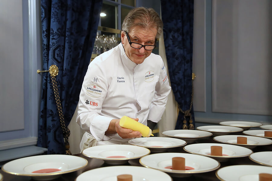 Le Chef Dario Ranza mentor de Cristian Moreschi à la Villa Principe Leopoldo