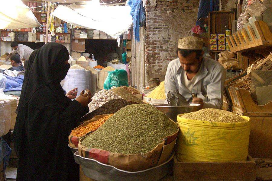 Sanaa. Vue du souk (c) G.A.-D