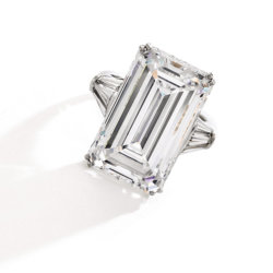 Bague en diamant de Harry Winston 18.86 carats