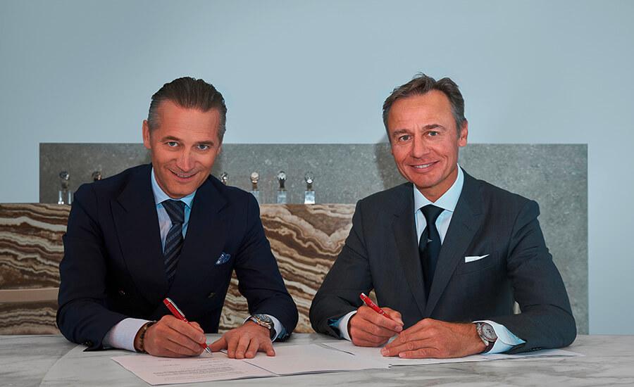 Raynald Aeschlimann, President et CEO d' OMEGA and Ernesto Bertarelli, Fondateur et Skipper d' ALINGHI