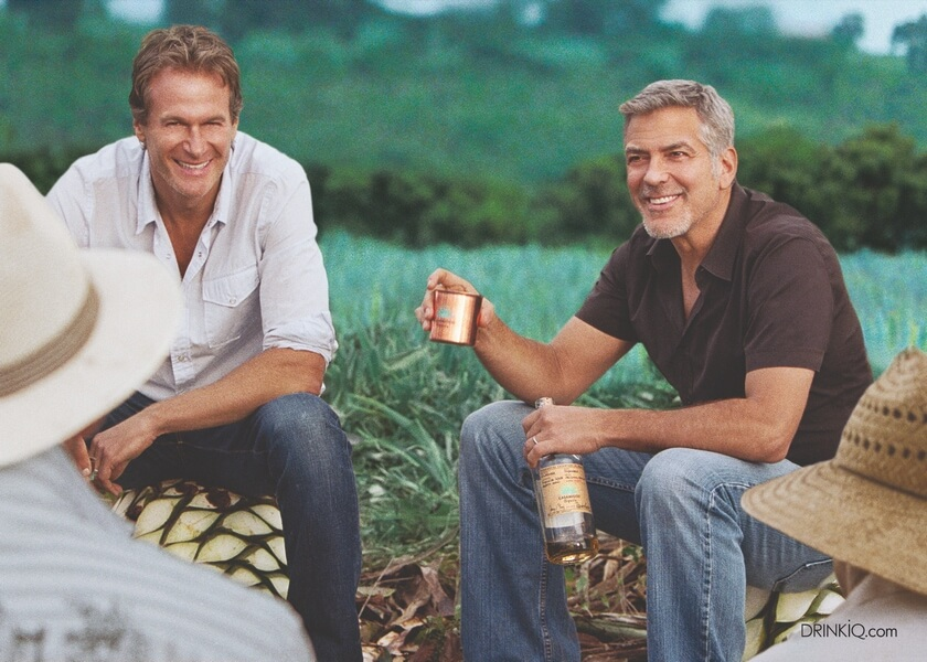 Rande Gerber et George Clooney en pleine action ROW