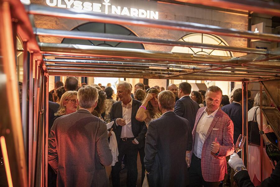Le public n'a pas boudé le plaisir de la découverte de la nouvelle boutique Ulysse Nardin