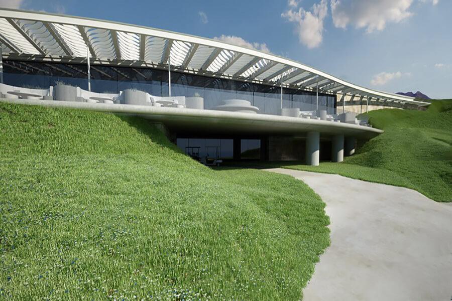 Bien intégré au paysage le nouveau Navarino Bay Club House