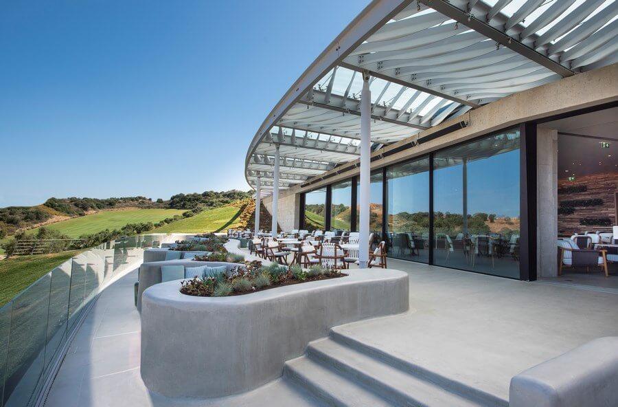Panorama sur le parcours depuis le Navarino Bay Club House