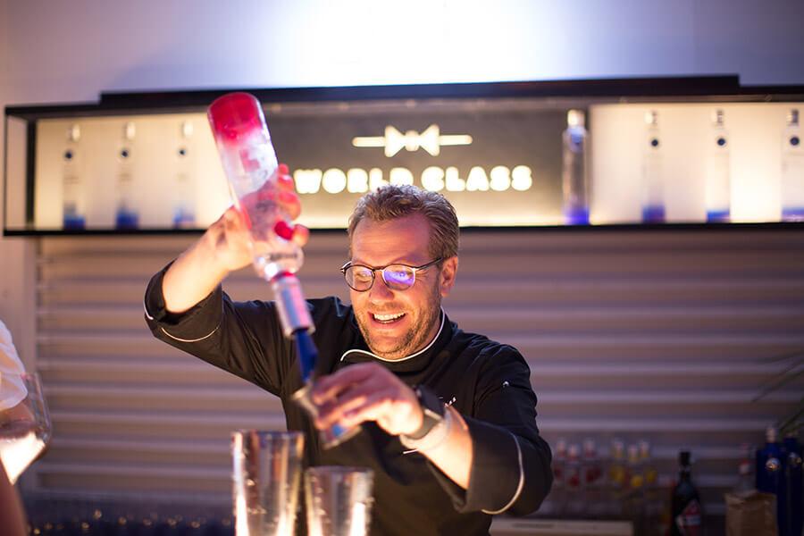 Cocktail avec Cîroc Vodka aromatisée. Photo by Geraldo Pestalozzi
