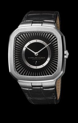 Modèle bracelet noir. Cadran noir