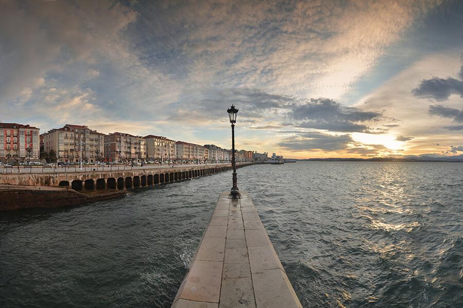 Bahia Santander Vue sur le front de mer (c) Manuel Alvarez