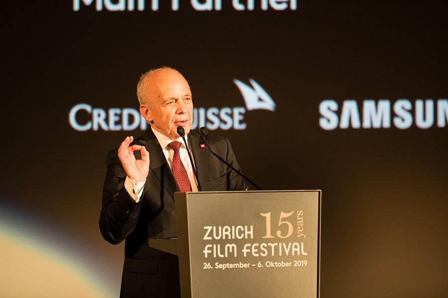 Le Président de la Confédération Suisse Ueli Maurer lançant le 15e ZFF