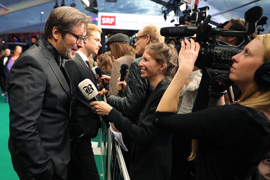 Ouverture de Festival tapis vert et séquences interviews ici avec Niklaus Hilber