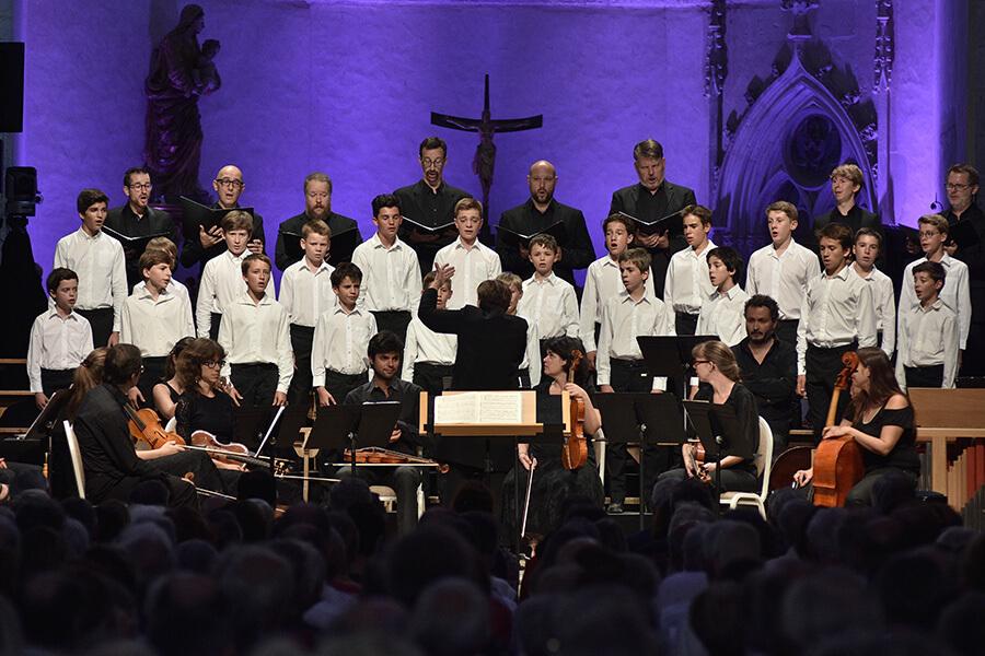 Spirito et la chorale de jeunes enfants dans Miserere d'Allegri ©Bertrand Pichene CCRAmbronay